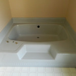 Blue Jacuzzi Tub Before