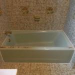Blue Bathtub Before
