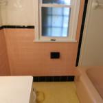 Pink Bathroom Before Reglazing Bathtub, Walls and Surround