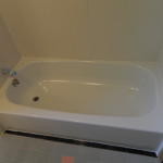 White Bathtub and Walls After Reglazing
