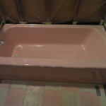 Pink Bathtub Before Reglazing