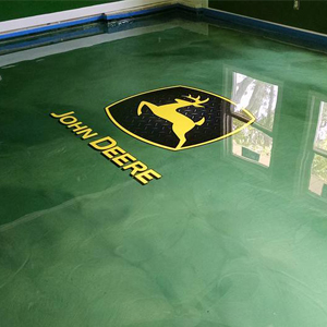 jon deere epoxy floor